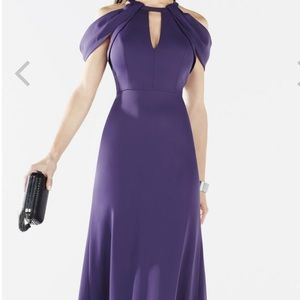 Bcbg Purple long gown- new with tags. Size 8